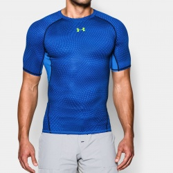 fitness under armour-Armour Printed SS Compr. Shi