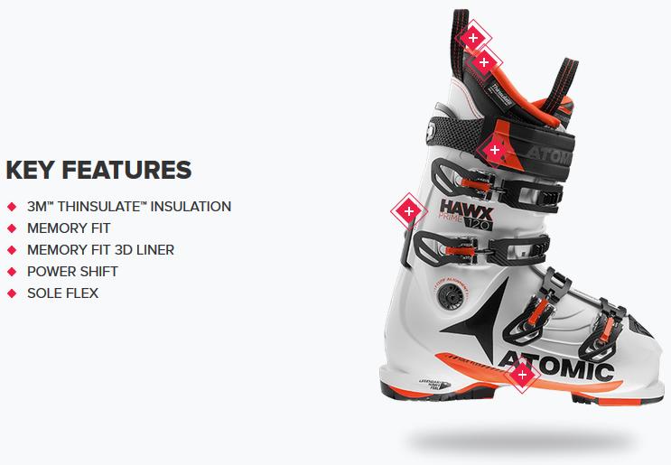 size 40 babe1 96173 Ski Boots   Atomic Hawx PRIME 120   Ski