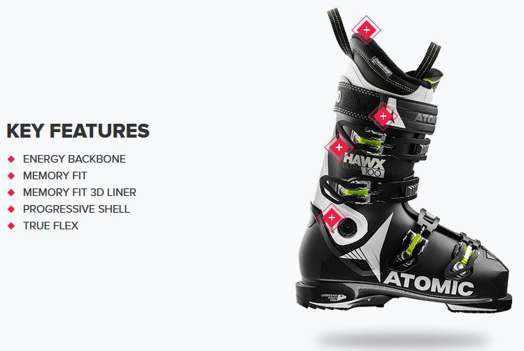 quality design 36c36 c13dc Ski Boots | Atomic Hawx ULTRA 100 | Ski